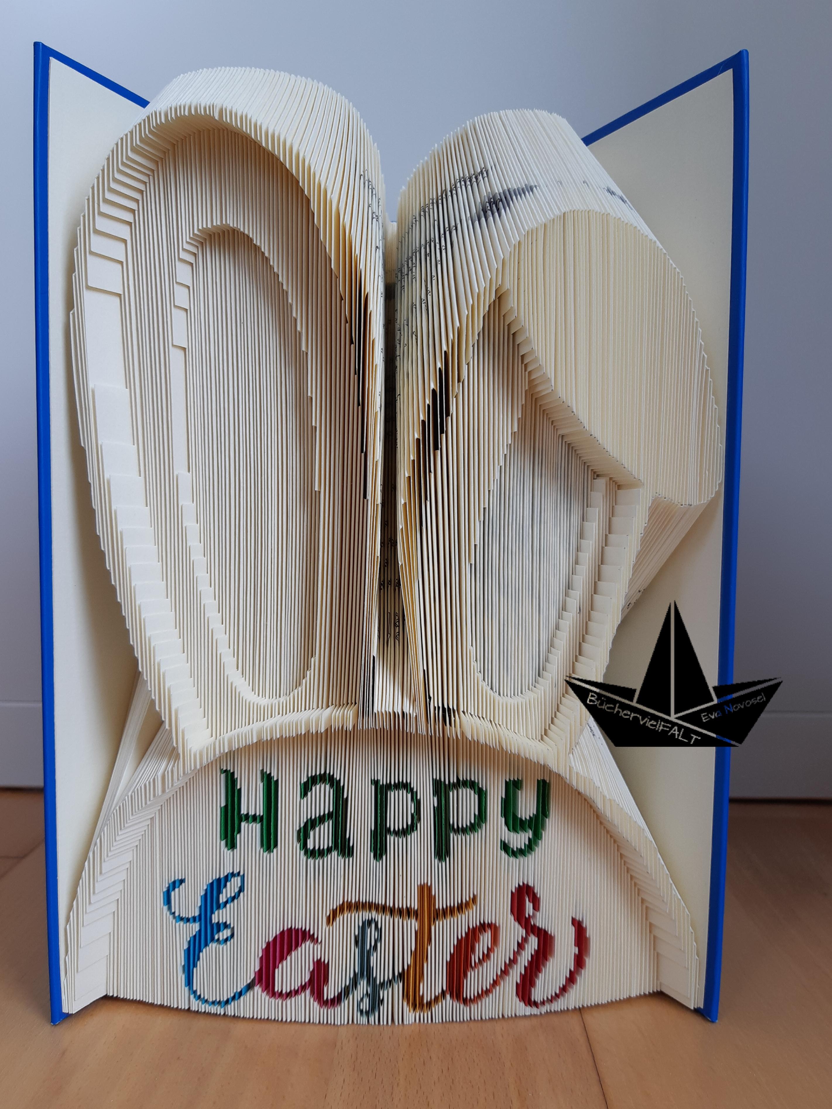 Happy Easter bunt mit Hasenohren