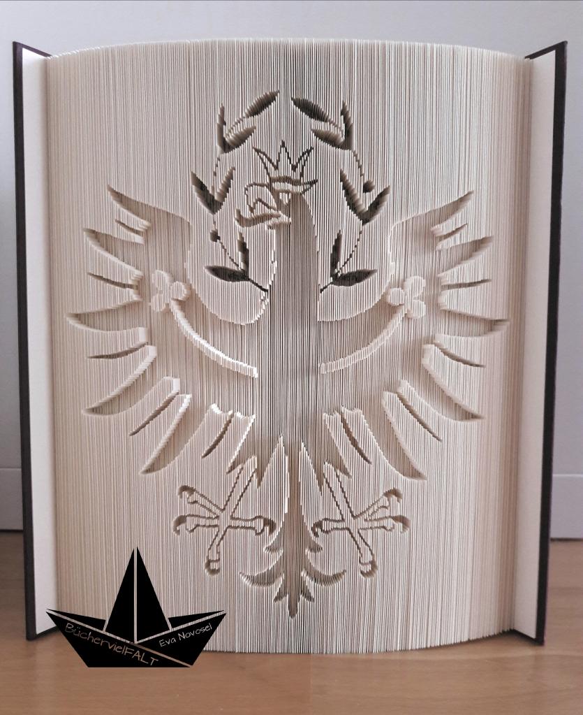 gefaltetes Buch - Tiroler Adler