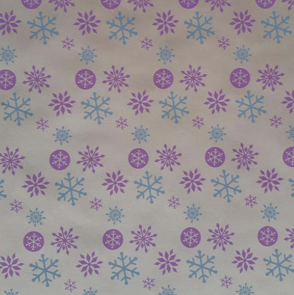 blau-lila Eiskristalle