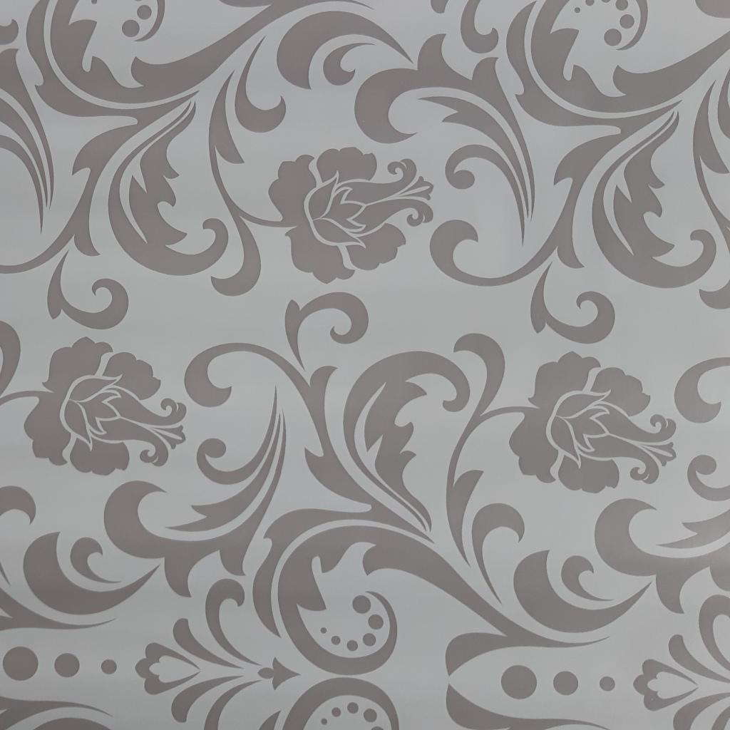 Blumen grau-weiß