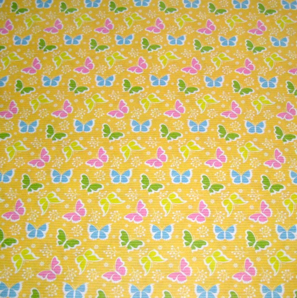 bunte Schmetterlinge - gelber Hintergrund