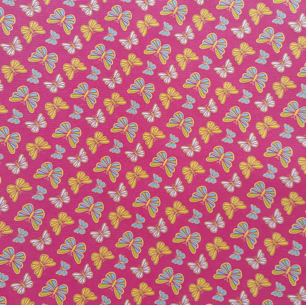bunte Schmetterlinge - rosa Hintergrund