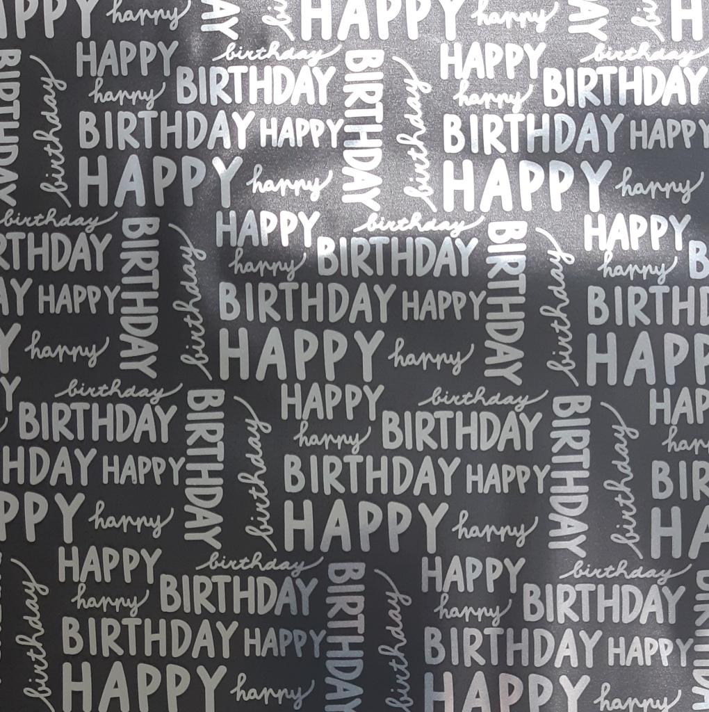 Happy Birthday_ schwarz-glänzend