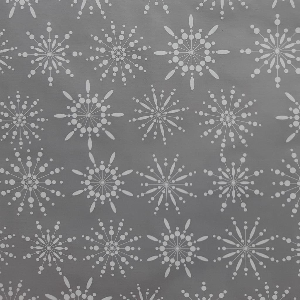 silberne Schneeflocken
