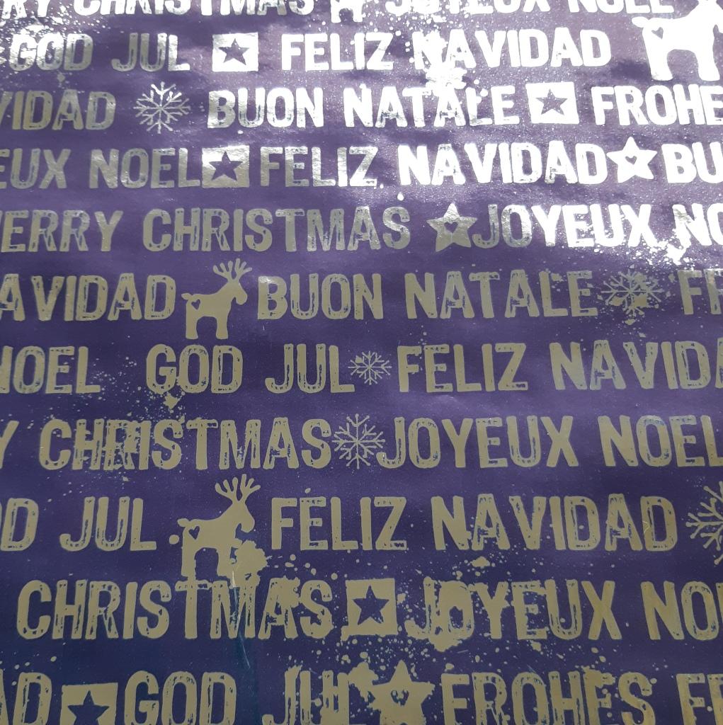 Weihnachten blau-silber