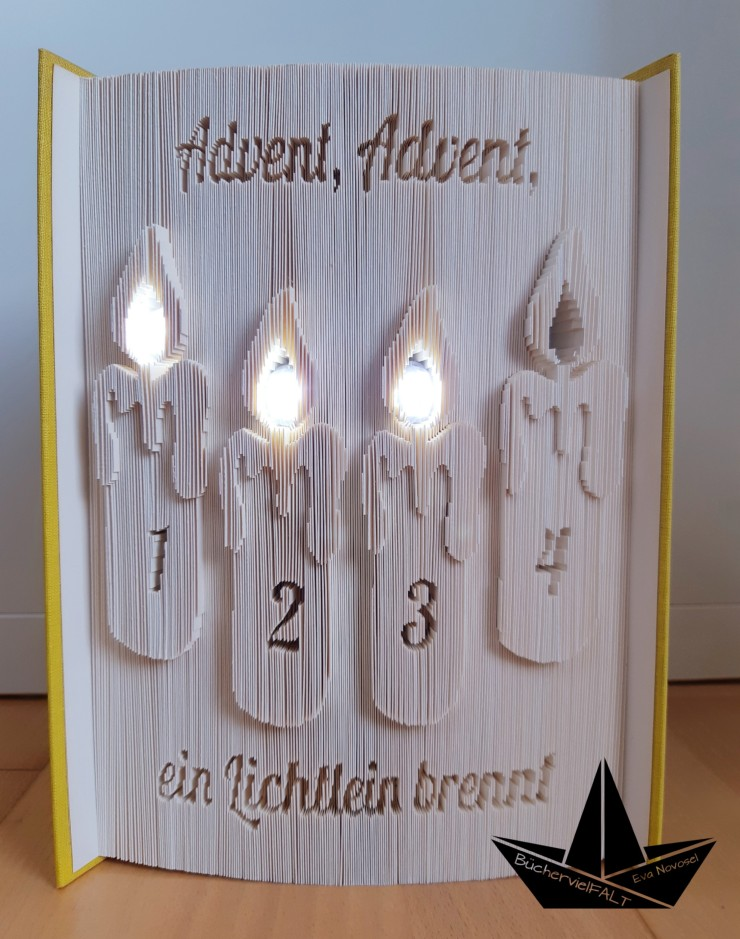 Adventskranz mit LED-Lichtern