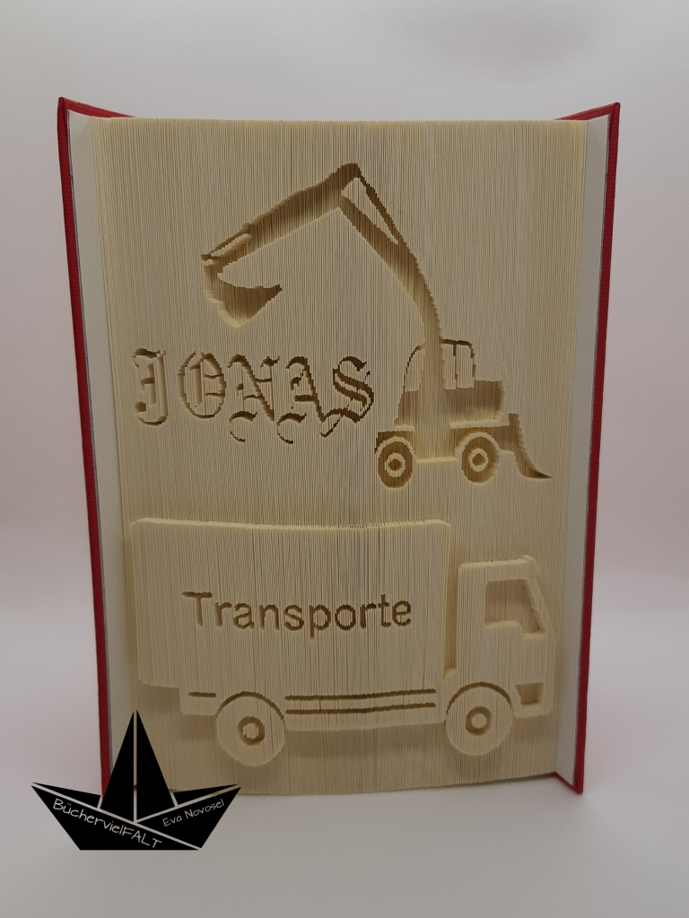 Jonas Transporte - Bagger - LKW - Geschenk für Firma - Firmenlogo